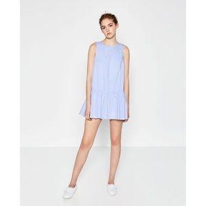 Zara Poplin Open Back Romper Dress